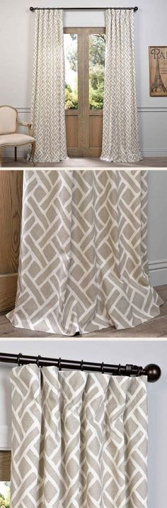 These Printed Cotton Curtains and Drapes provide a casual and refined look to any window. Choose from a wide range of patterns to suit any decorative style.