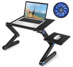 Laptop Table, Adjustable Laptop Bed Table