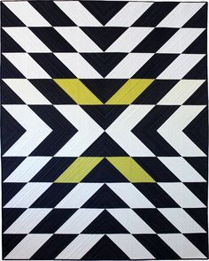 Modern X Quilt pattern by Christ Quilts