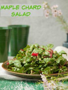 Maple Chard Salad Recipe - JoyOfKosher.com