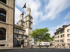 Aussenansicht des Grossmünsters Zürich