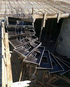 Formwork of stepped special staircase