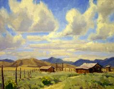wyoming western art paintings | ... Wyoming Cow Camp, Simpson Gallagher Gallery, Fine Art, Cody Wyoming