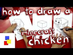 ▶ How To Draw A Chicken From Minecraft - YouTube