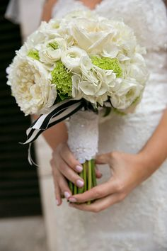 White Rose and Hydrangea Bouquet | Brides.com