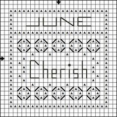 Free Cross Stitch Pattern - June Cherish MiniSampler - Right click and save the patterns from here on pinterest and then follow the link for the pattern key and instructions.