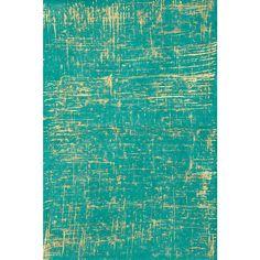 Brush Stroke Gold on Sea Green Fine Paper - Paper Source