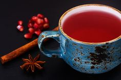 Hot Mulled Tea - perfect for a cold winter night. A great alternative to mulled wine or hot chocolate.