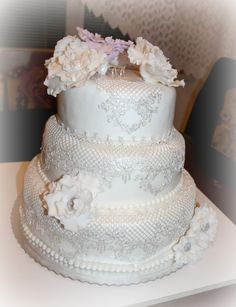 My first wedding cake...