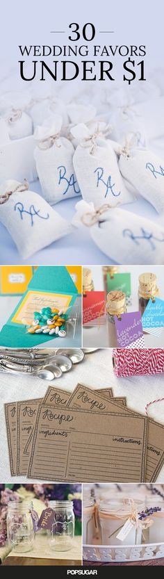 Affordable Wedding DIYs That Look More Luxe Than They Are | Favors ...
