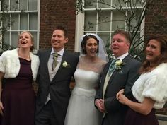 Bridesmaids and best man looking gorgeous #newlywed #mrandmrs #londonwedding #londonbride #londongroom #londonbridesmaids #phaseeight #raimonbundo #heirloomveil #autumnwedding