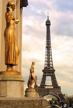 Torre Eiffel, vista da Place du Trocadero