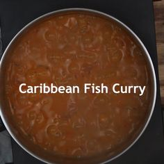 Delicious fish curry with fresh Caribbean flavours. It is easy to prepare and perfect for an a quick lunch or dinner. Stew Fish Recipe Jamaican, Jamaican Dishes, Jamaican Recipes, Curry Recipes, Jamaican Cuisine, Caribbean Fish Recipe, Carribean Food, Caribbean Recipes, Goat Recipes