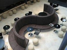 This is cool seating for the study/Lounge room. Maybe we could figure out how to build this. Modular Furniture, Design Furniture, Furniture Styles, Furniture Ideas, Affordable Furniture, Unique Furniture, Contemporary Furniture, Restaurant Furniture, Restaurant Chairs