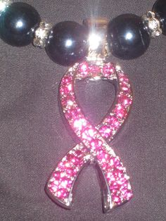 Breast Cancer Awareness Pink Crystal Pendant by cthorses66 on Etsy, $10.00