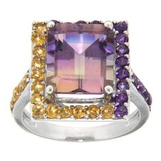 @Overstock.com - Pearlz Ocean Sterling Silver Ametrine, Amethyst and Citrine Ring - Ametrine, amethyst and citrine ringSterling silver jewelryClick here for ring sizing guide  http://www.overstock.com/Jewelry-Watches/Pearlz-Ocean-Sterling-Silver-Ametrine-Amethyst-and-Citrine-Ring/7660501/product.html?CID=214117 $139.99