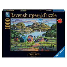 Casse-tête 1000 morceaux - Un lac dans Charlevoix - Dimensions : 70 x 50 cm. 1000 morceaux. -  Age : Toute la famille -  Référence : 80091 -  Marque : Ravensburger #Puzzle #Cassetête #Jeux #Jouets