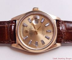 Rolex 1979 Tiffany & Co Diamond Dial 18k Gold President Mens Watch Ref. 18078 #Rolex #Luxury