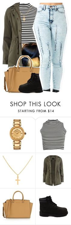 """September 25, 2k15"" by xo-beauty ❤ liked on Polyvore featuring Mode, Versace, Boohoo, Sterling Essentials, Dorothy Perkins, Identity, MICHAEL Michael Kors und Timberland"