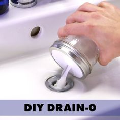 Clogged Sink Fix It In No Time With This DIY DrainO is part of Diy household cleaners No need for scary chemicals - Household Cleaners, Diy Cleaners, Cleaners Homemade, Homemade Drain Cleaner, Household Tips, House Cleaning Tips, Spring Cleaning, Deep Cleaning, Home Organization Tips