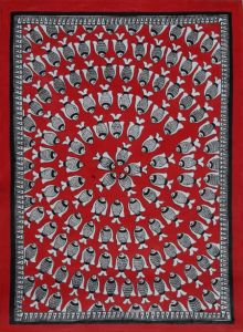 Fish Madhubani traditional art by Mithilesh Jha | ArtZolo.com