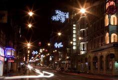 Najjaśniejszym punktem miasta jest z pewnością prowadząca od dworca PKP do Rynku ulica Zwycięstwa. #Gliwice #christmas #lights