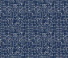 grid // weave navy blue coordinate kids baby nursery grids fabric by andrea_lauren on Spoonflower - custom fabric