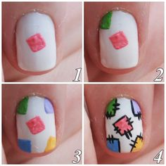 Rubia Olivo: Tutorial: Nail Art June Festival