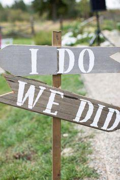 Arrow This Way: I DO  Arrow That Way: WE DID