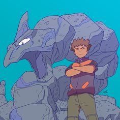 """koi-carreon: """" Artjam with the awesome Rian """" Onix Pokemon, Pokemon Firered, Pokemon Pocket, Pokemon People, Pikachu, Pokemon Stuff, Pokemon Especial, Pokemon Rouge, Brock Pokemon"""