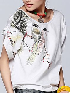 #Wholesale big round neck blouses for sale  Only$10.5    #tops #dress #skirt #shirts #pants