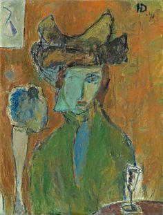 """huariqueje: """" A Parisian Model - Helge Dahlman , 1946 Finnish, 1924–1979 Oil on canvas , 61 x 46 cm. """""""