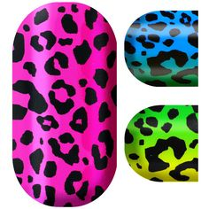 Minx Nails | Rainbow Leopard ❤ liked on Polyvore