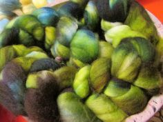 100 superwash merino wool Hand Dyed Top Roving  by njynotjustyarns, $24.99