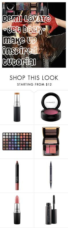 """DEMI LOVATO """"Get back"""" make up inspired tutorial by oroartye-1 on Polyvore featuring beauty, Guerlain, Estée Lauder, NARS Cosmetics, BHCosmetics and MAC Cosmetics"""