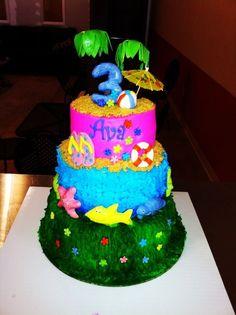 Luau Birthday Cake Bake Your Day, LLC - Alexandria, LA www.facebook.com/bakeyourdayllc (318) 229-0299 bakeyourdayllc@hotmail.com
