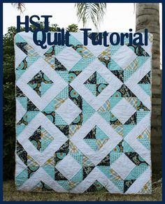 "HST quilt - used 6"" squares, could be made with charm squares"