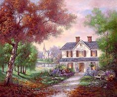 Cross stitch house  Cross stitch cottage  by Addict2CrossStitch
