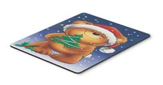 Teddy Bear and Christmas Tree Mouse Pad, Hot Pad or Trivet AAH7208MP