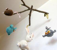 Woodland Baby Mobiles Modern Nursery Decor by SweetBauerKnits