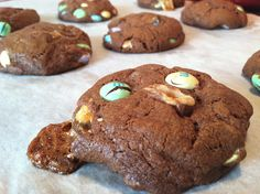 Double Chocolate Easter Candy Cookies