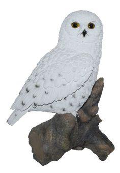 Garden Sculpture Ornament Outdoor Decorative Snowy Owl Home Art Resin Statue  | Garden & Patio, Garden Ornaments, Statues & Lawn Ornaments | eBay!