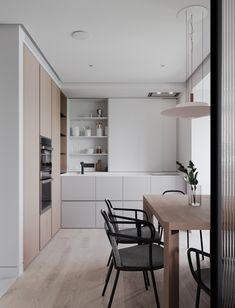 Scandinavian Kitchen Design Modern Decor – Home Decoration and Improvement Kitchen Sets, Kitchen Layout, Home Decor Kitchen, Island Kitchen, Kitchen Trends, Kitchen Lighting Design, Modern Kitchen Design, Home Interior, Kitchen Interior