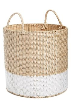 Levtex Straw Basket available at #Nordstrom