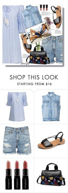 """""""Rosegal 10"""" by ramiza-rotic ❤ liked on Polyvore featuring Frame, R13, Smashbox, Avon and GUESS"""