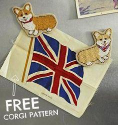 How-To: Corgi Cross-Stitch Pattern #crossstitch #corgi #pattern