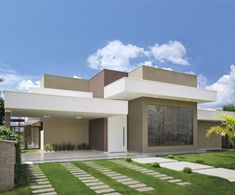 12 fachadas de casas contempor neas e lindas por julliana for Casa moderna 80m2