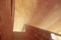 eladio dieste, brickwork - a thin shell construction made from individual bricks.