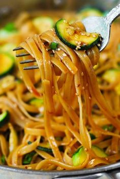 Thai Zucchini Noodles perfect with Thai chicken thighs