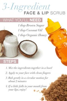 Simple and Amazing 3 step face and lip scrub! Makes your skin soon soft! Super refreshing and great for dry skin! Best exfoliator ever!